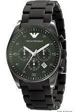 Emporio Armani AR5889 Full Black Sportivo Chronograph Men's Wrist Watch + Box