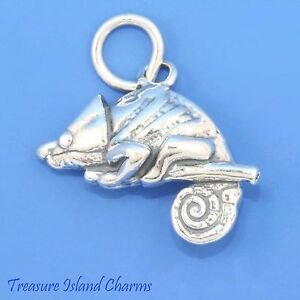 925 Sterling Silver Gecko Charm Made in USA