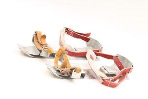 Beautiful-Old-GDR-Skid-Shoes-Jugend-Ice-Skates-Length-22cm-Old-Vintage-Winter