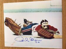 Montreal Canadiens Phil Myre signed 8x10 W/COA pose 4