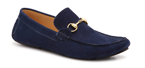 $139 MERCANTI FLORENTINI 19136 Loafer Moccasin ~ Navy Blue Suede Leather 13 M