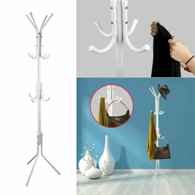 WZR Coat Rack with Umbrella Stand and 6 Hooks,Free Standing Entryway Coat Hanger Stand Hat Handbags Holder Jacket Stand A H-170cm