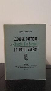 Jean Venettis - Exégesis Poetico - 1951 - Edición La Palladienne