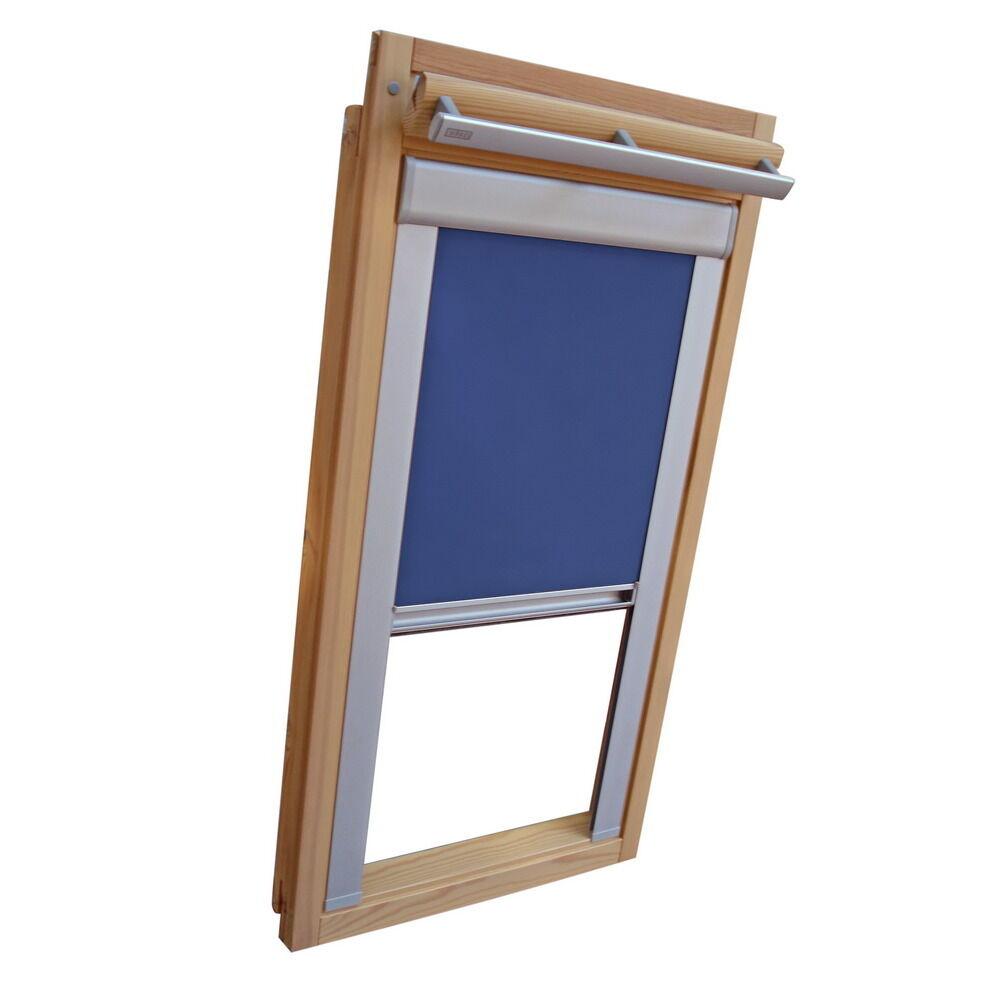 Dachfensterrollo Verdunkelungsrollo für Roto WDF 410 - 419 - mittelblau | Kaufen Sie beruhigt und glücklich spielen