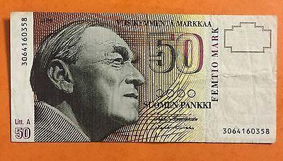 50 Mark Markkaa Finland Banknote Billet Banque Numismate 1986