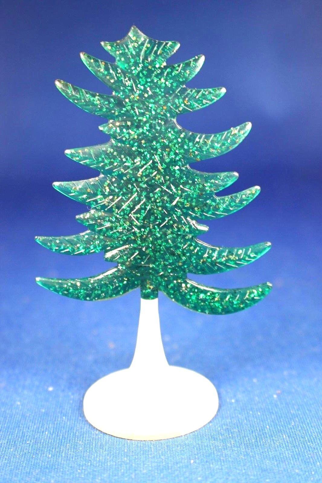 O/S - Plasticville -  CT-6 Translucent verde Eververde Tree - HTF - VG Cond.