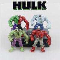 Marvel The Avengers Super Hero Hulk Action Figure Pvc Dolls Kid Toys Gifts 4 Pcs