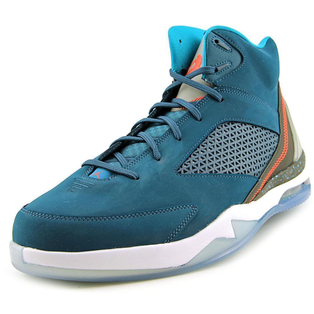 Jordan Flight Remix Men  Round Toe Leather Blau Basketball schuheNIB Größe 11.5