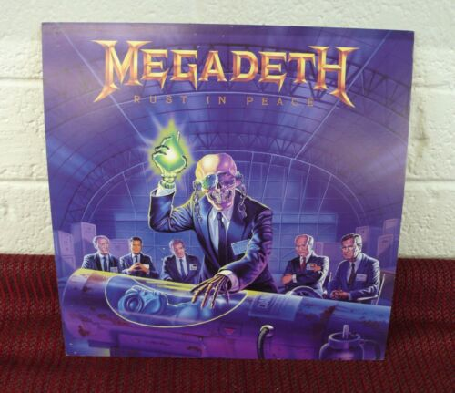 MEGADETH Rust In Peace Original 2 Sided Promo Poster Flat LQQK!