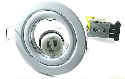 6 X  Tilt Downlight Spotlight White Non Fire Rated GU10 240V mains Halogen LED