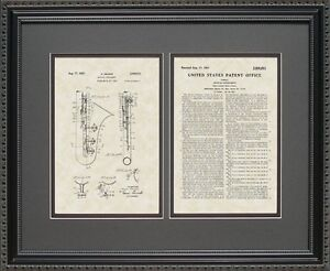 Patent Art - Saxophone - Sax Player Musician Band Director Print Gift S0011