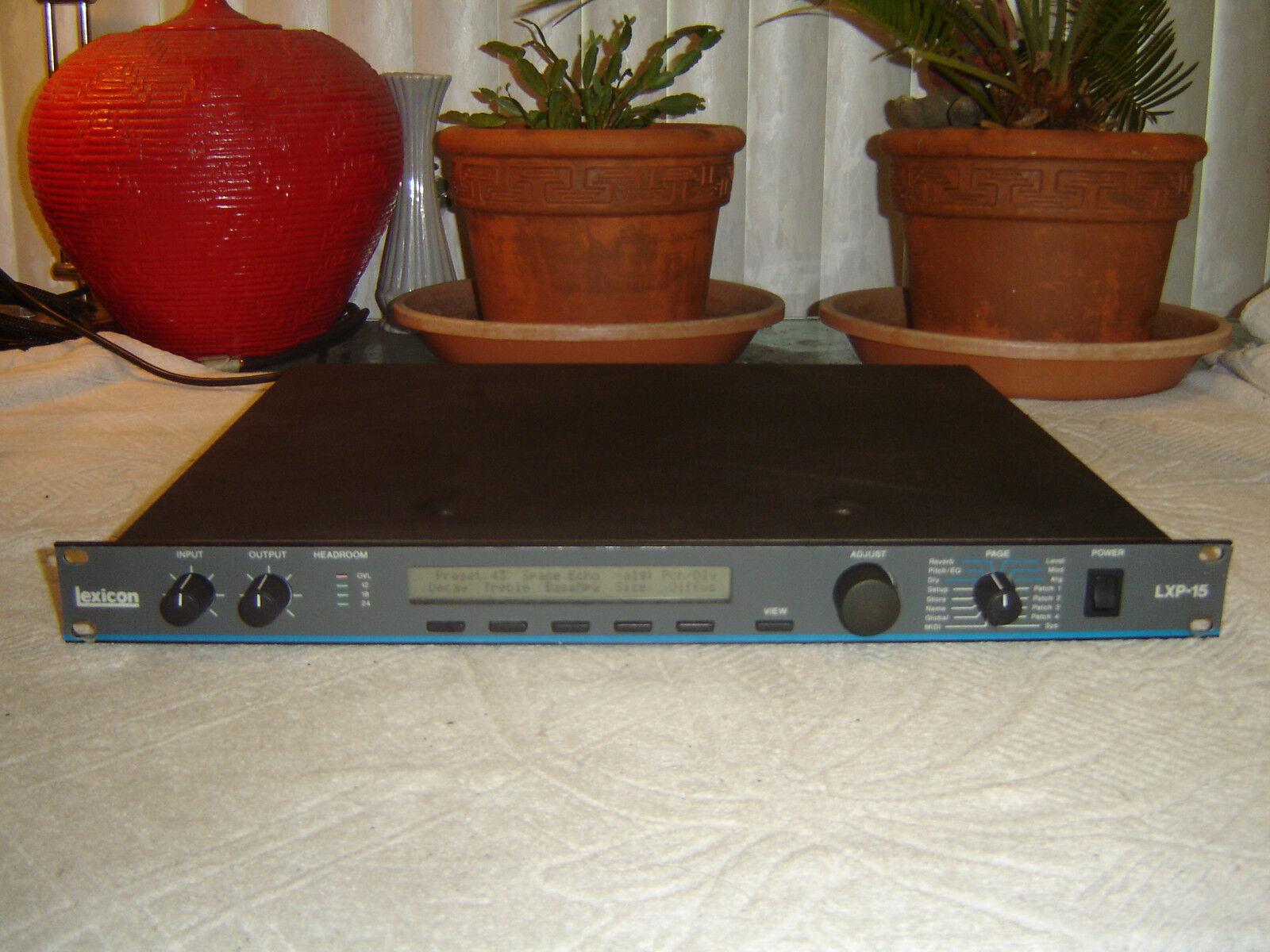 Lexicon LXP-15, Digital Effects Processor, Reverb, Pitch Eq, Delay, USA, Vintage