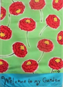"""Floral Welcome Garden Flag by Toland, 12.5"""" x 18"""",  #2160"""