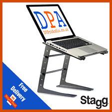 Stagg DJS-LT10 Professional Computer Laptop Stand Nero DJ Discoteca