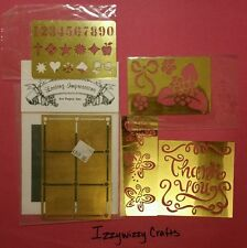 Lasting Impressions Dry Emboss Brass Stencils Thank you flowers butterfly (1413)