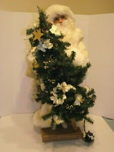 "Ditz Designs Hen House 29"" White Santa 2004 Tree Signed ..."
