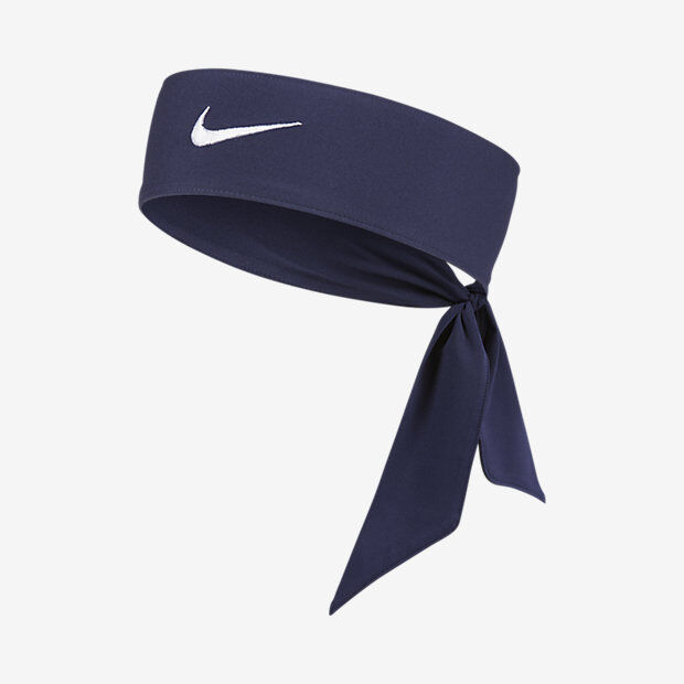e22f6ef73a1 Womens Nike Head Tie Dri Fit 2.0 Navy Headband Tennis Running for sale  online