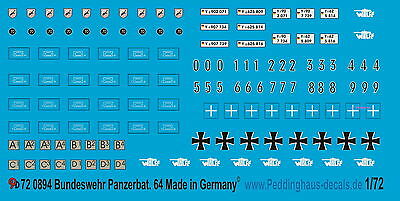 Aggressive Peddinghaus 1/72 0894 Esercito Tedesco Panzerbatallion 64 Latest Technology Toys & Hobbies