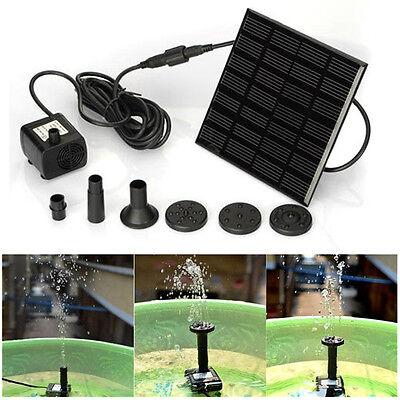 Solar Power Fountain Water Pump Panel Kit Pool Garden Pond Submersible Watering
