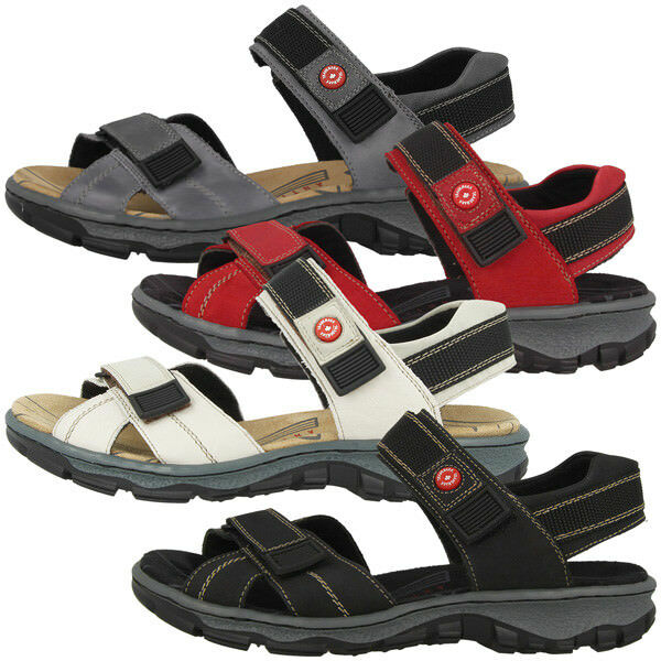 Rieker Schuhe Antistress Damen Outdoor Sandalen Damens Antistress Schuhe Trekking Sandaletten 68851 acaa99