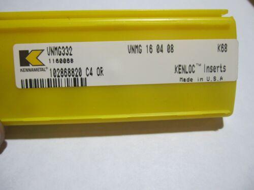 5 new Kennametal VNMG 332 K68 cast iron carbide insert Kenloc VNMG 16 04 08