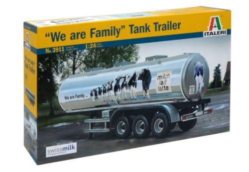 We Are Family Tank Trailer Plastic Kit 1:24 Model 3911 ITALERI