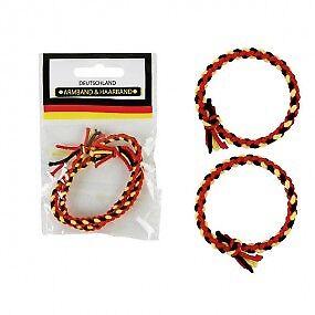 Haargummi Haarreifen Haarband Fußballtröte Deutschland Fanartikel WM Armband