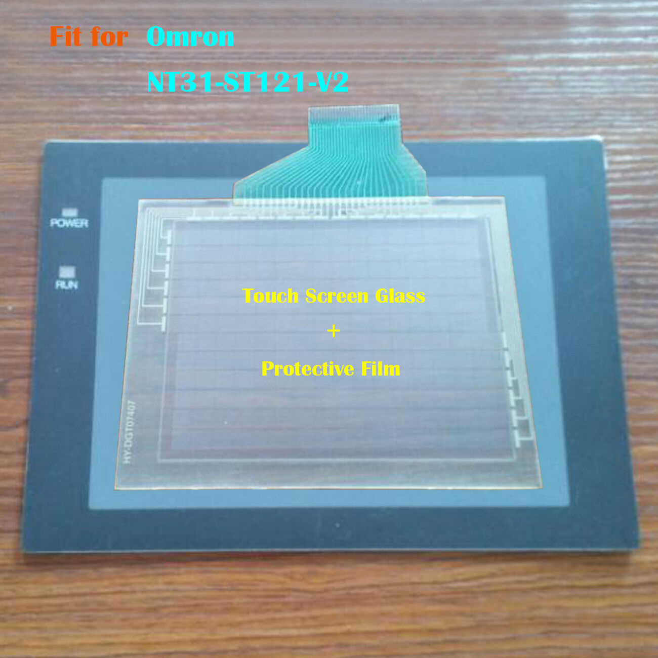 For Omron NT31-ST121-V2, NT31ST121V2 Touch Panel Glass with Predective Film New