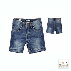 Bermuda-di-Jeans-in-Cotone-Bambino-Denim-Sarabanda-Q874