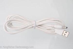 2 M Usb Blanc Chargeur Câble D'alimentation Pour Jlt Jlt-8036 Rx Unité Parent Moniteur Bébé-afficher Le Titre D'origine