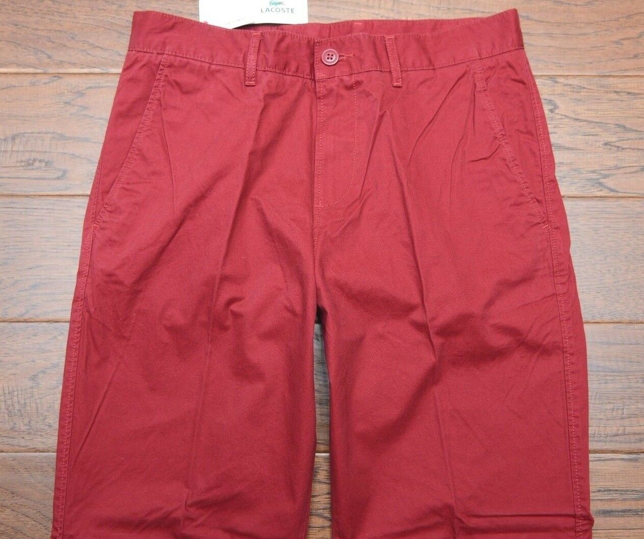 Lacoste Men's Classic Fit Andrinople Red Cotton Casual Pants W32 L30
