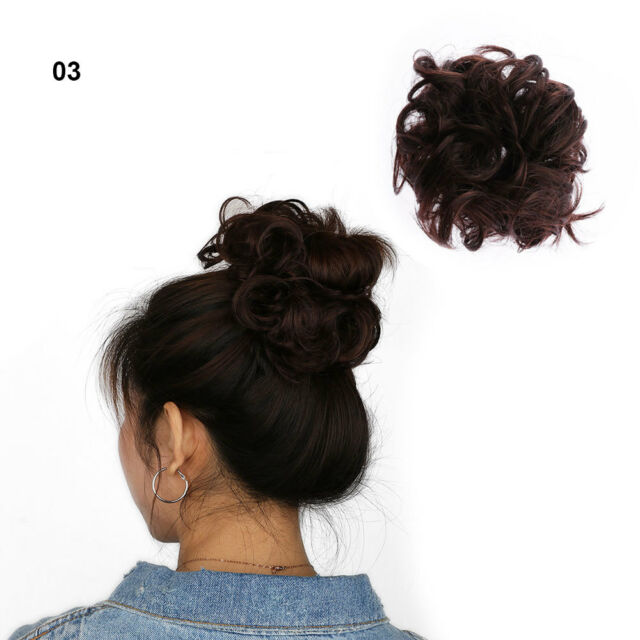 Hair Updo Maker 100 Natural Curly Bunpiece Scrunchie Real Thick Hair