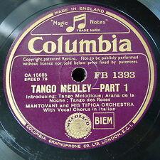 78rpm MANTOVANI TIPICA ORCH tango medley , 1&2