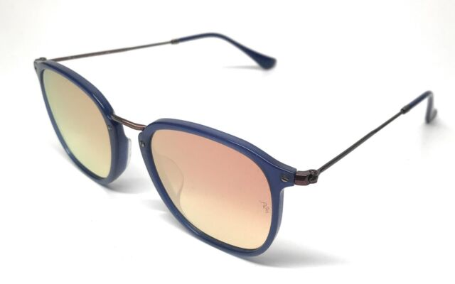 1e4bdfa166f1c Ray-Ban 0RB2448NF Square Sunglasses for Unisex - Size 53 Trasparent Blue  Copper Flash Gradient