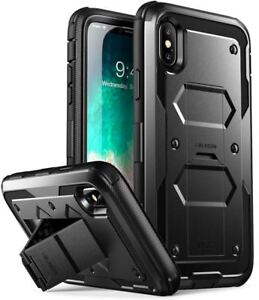 best service 57c1b ff4bf Details about Apple iPhone X Case Built in Tempered Glass Screen Protector  Heavy Duty Cover