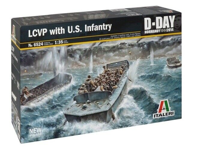 Italeri 1 35 LCVP with U.S. Infantry D-Day