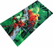 "Parrot Exotic bird beach towel Bath cotton 30"" x 60""  Jungle new"