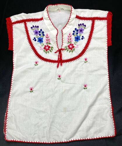 Vintage Ethnic Hungarian Hand Embroidered Floral … - image 1