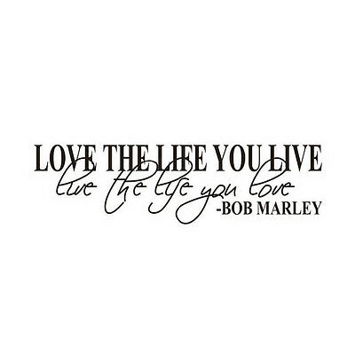 New Bob Marley Quote Wall Decals Decor Love Life Words Large Nice Sticker Text