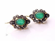 Antique Italian  Earrings solid Gilt Silver Paste  / 6.5