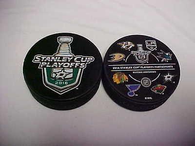 2016 NHL Nashville Predators Stanley Cup Playoffs Hockey Two Puck Souvenir Pack