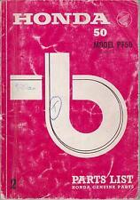 HONDA MODEL PF50 ORIGINAL 1970 FACTORY ILLUSTRATED PARTS CATALOGUE