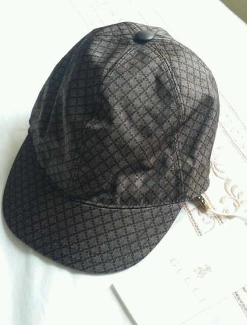 9f971e94 NWT NEW Gucci junior kids boys diamante shiny blue / black or brown cap M or