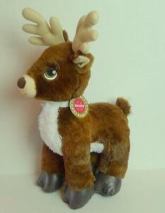 Build-A-Bear-DASHER-Reindeer-Plush-with-Name-tag-brown-fur-green-eyes