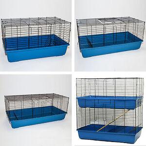Large Indoor Rabbit Guinea Pig Cage Indoor Hutch Run Double Decker
