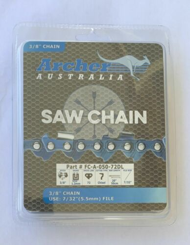 """4 Pack 20/"""" Chainsaw Chain 3//8/"""" Pitch 050 Gauge 72 Drive Links replaces 72LGX072G"""