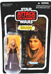 Kenner UNPUNCHED Star Wars VC33 Padme Amidala Peasant Action Figure NIB d863