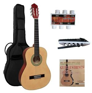 Konzertgitarre-Gitarre-3-4-natur-MI-classic-jugend-mit-Zubehoer-Set-n