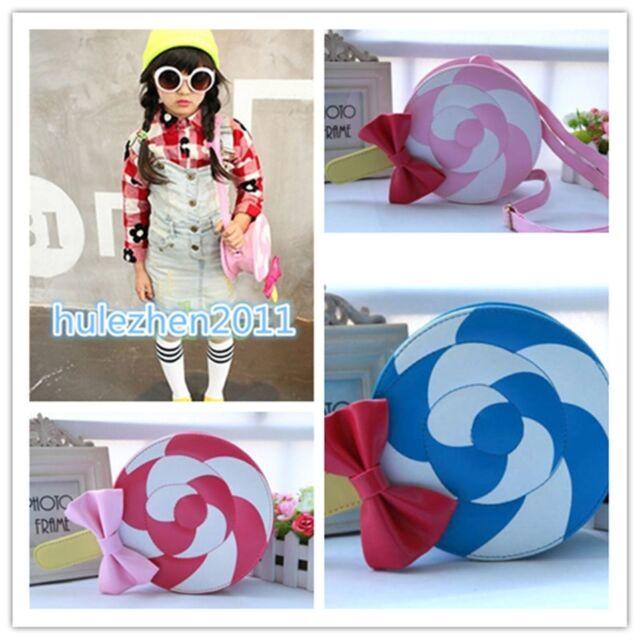 Girls' Lolita Cute Pink blue Candy Handbag Lollipop Harajuku Kawaii Messager Bag