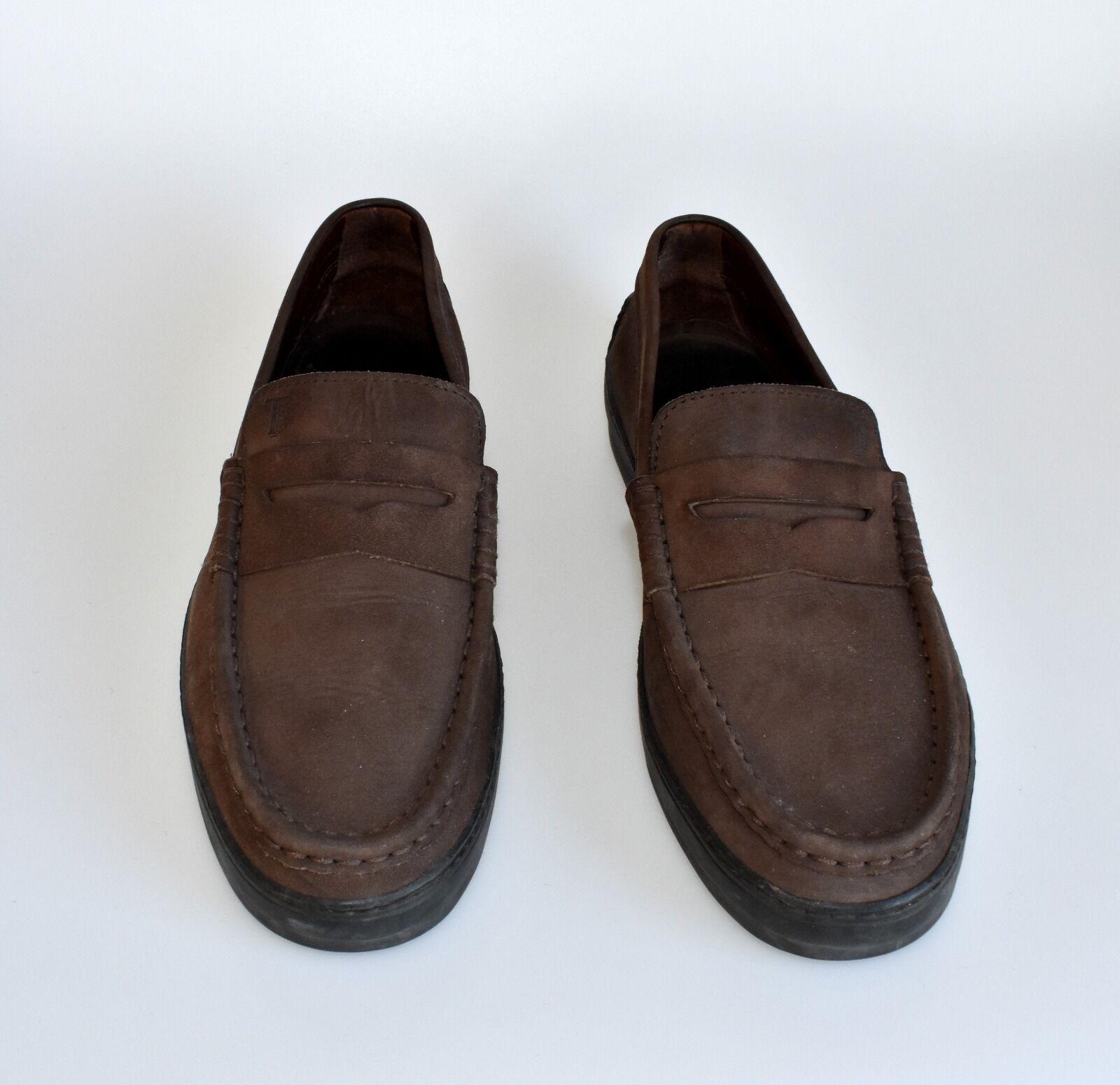 TODS Uomo shoes SZ 44 - - - 45 11 US color brown suede thicks Vibram sole Bra 223a15